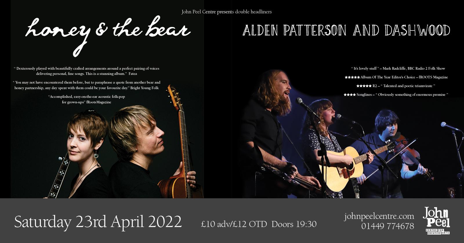 Honey & The Bear | Alden, Patterson & Dashwood @ John Peel Centre